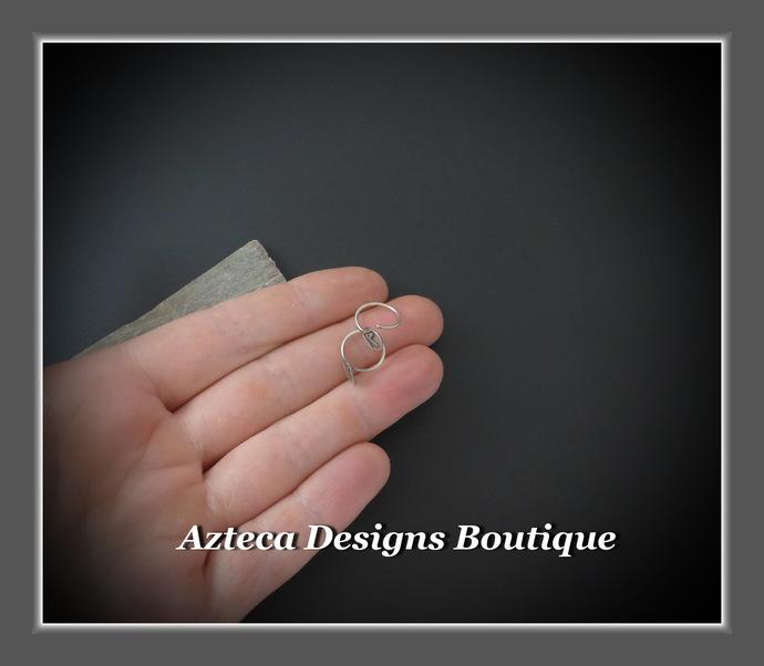 Horse Tiny Sleeper Hoops Argentium (93.5) Silver Earrings