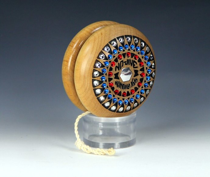 Tom Kuhn Jeweled No-Jive Mandala Sunburst YoYo, 4th of July USA Mods by YoYoSpin