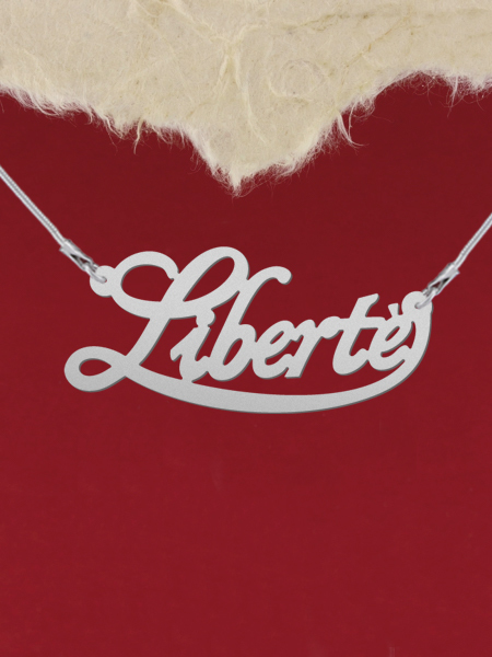 925 Silver Name Necklace Liberte/Custom Name Jewelry/Personalized ANY NAME Plate