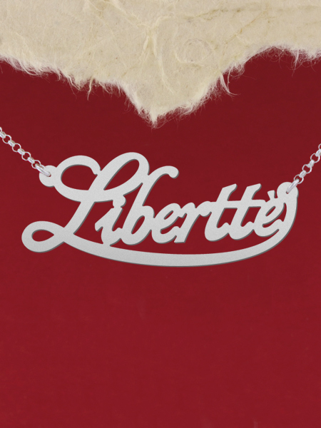 925 Silver Name Necklace Libertte/Custom Name Jewelry/Personalized ANY NAME