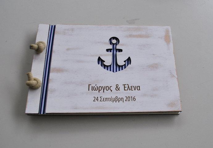 anchor guest book / nautical guest book / anchor wedding / nautical wedding /