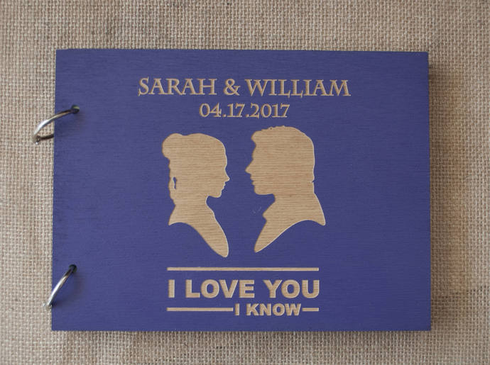 Star Wars Guest Book / I Love You I Know Guest Book / Han Solo Princess Leia /