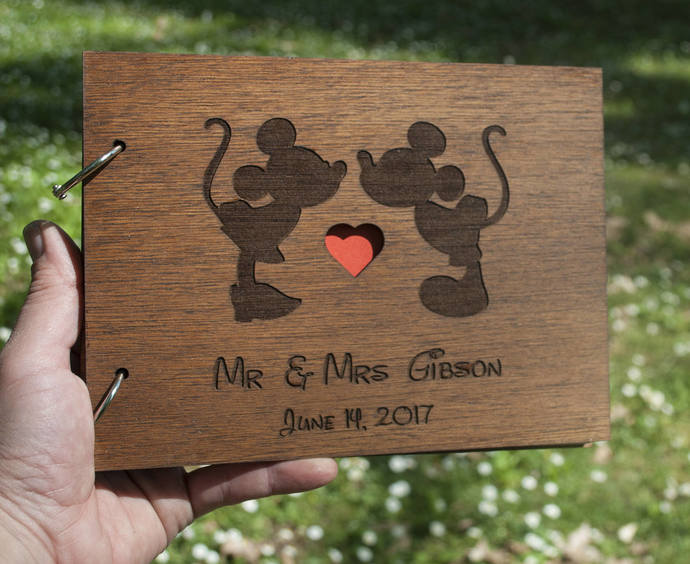 Disney Guest Book / Mickey and Minnie Guest Book / Mickey and Minnie Wedding /
