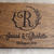 monogram guest book / rustic wedding guest book/ wood guest book / Mr and Mrs