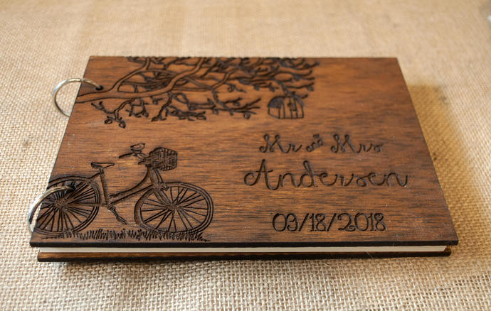 rustic wedding guest book/ wood guest book / by WoodYourDay on Zibbet