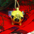 Flying Pug Ornament/ Christmas Pug Ornament/ Xmas Decoration/ Pug Dog Sculpture/