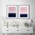 Wall Art Print , Art Poster, modern abstract, light pink, large print, navy blue
