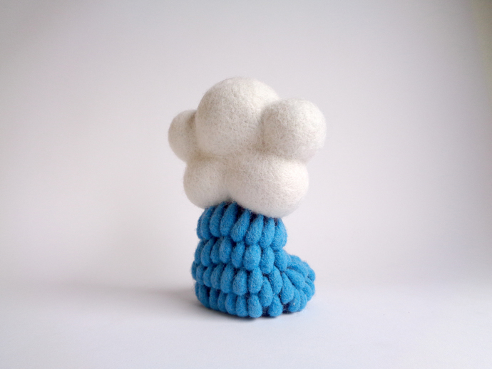 Mr. Rainy Cloud, needle felted Art Toy, wool felt plush toy