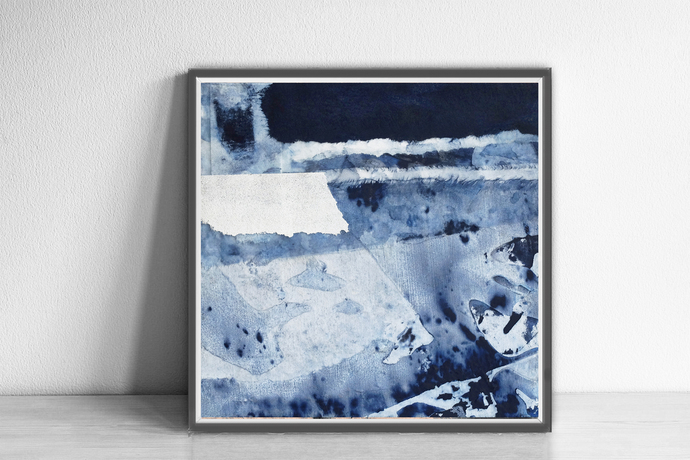 Wall Art 12x12, Abstract Wall Art, Abstract , Blue Print, Scandinavian Design,