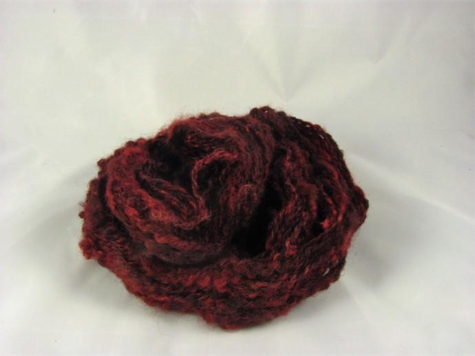 Lockspun yarn - Burgundy, plied