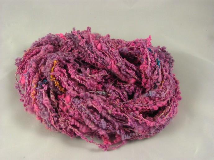 Handspun yarn - Pangalactic Gargleblaster boucle