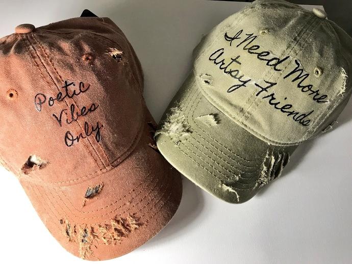 Distressed Artist Hats