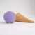 Scoopsie Blueberry a cranky ice cream scoop, felt wool plush toy, custom Art Toy