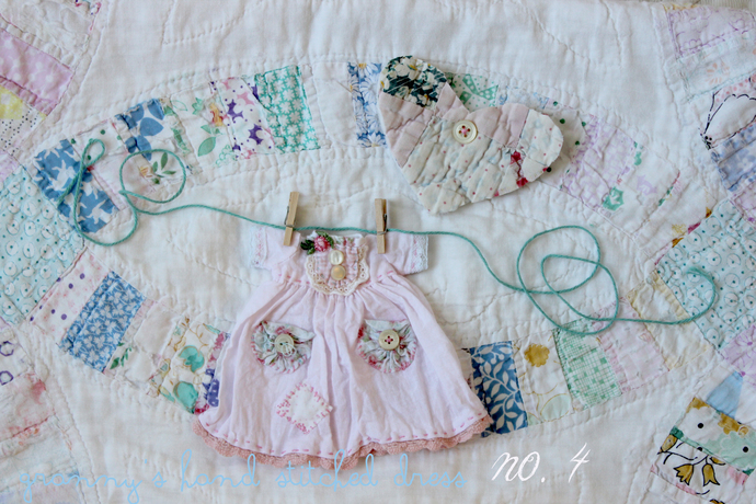 teddydolly granny's hand stiched dress no. 4