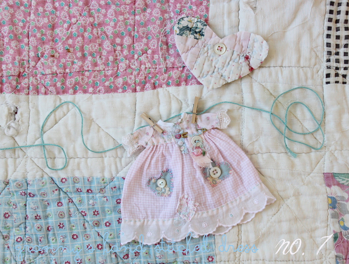 teddydolly granny's hand stiched dress no. 7