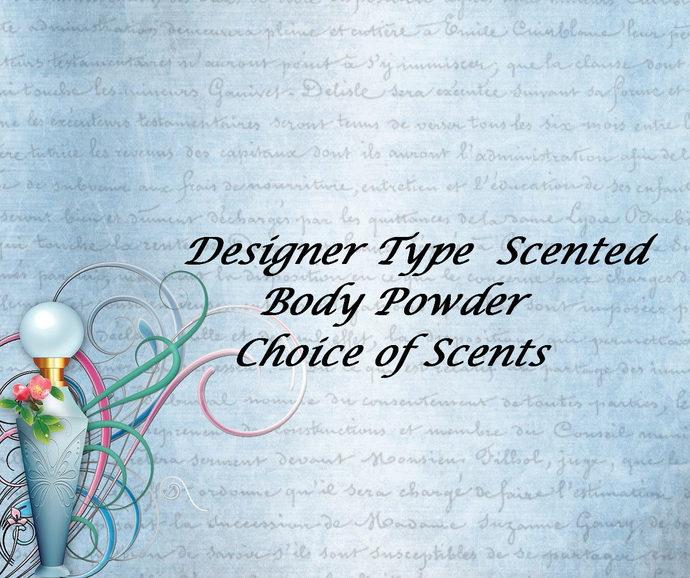 Scented Body Powder, Talc Free Powder, Designer Duplicate Scents, Body Powder,