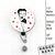 """Betty Boop Retractable Badge Reel 1.50"""" Button, Long Cord, Work Id, Employee"""