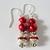 VALENTINE Drop Earrings--RhineStone-Glass Pearls--Lead Free EarWires-GORGEOUS