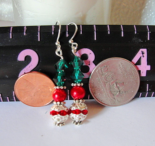 DRESS UP Drop Earrings--RhineStones--Glass Pearls--Swarovski Crystals-Lead Free