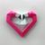 DIY Flamingo Heart Trophy,Flamingo decor,PDF templates,DIY Papercraft,3d