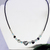 Hematite Heart Sterling Silver Necklace
