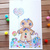 Gingerbread Man in Candyland. Original watercolor painting