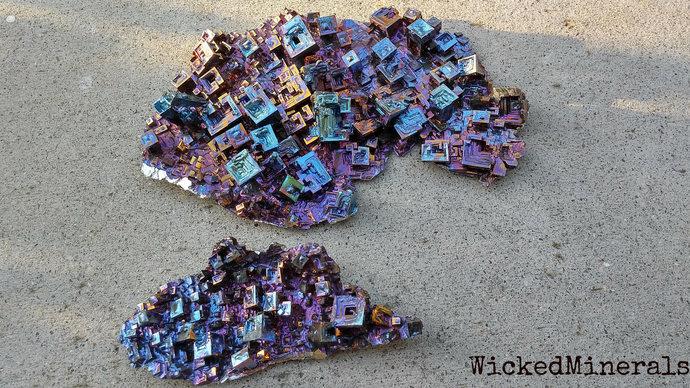 Bismuth Crystal Cluster lot, bismuth crystal lot, large bismuth, bismuth