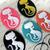 5pcs Kitties Cat Cameo Sets-  Mix color