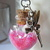 MINI BOTTLE Fairy Dust--PINK with Magical FAIRY Attached--Ball Chain