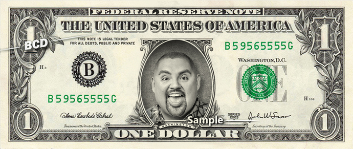 Gabriel Iglesias Real Dollar Bill Cash Money Collectible Memorabilia Celebrity