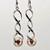 Spiraling Rose Earrings