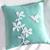 Pick Your Color. Pretty Florals Humming Bird Fuchsia White Decorative Pillow