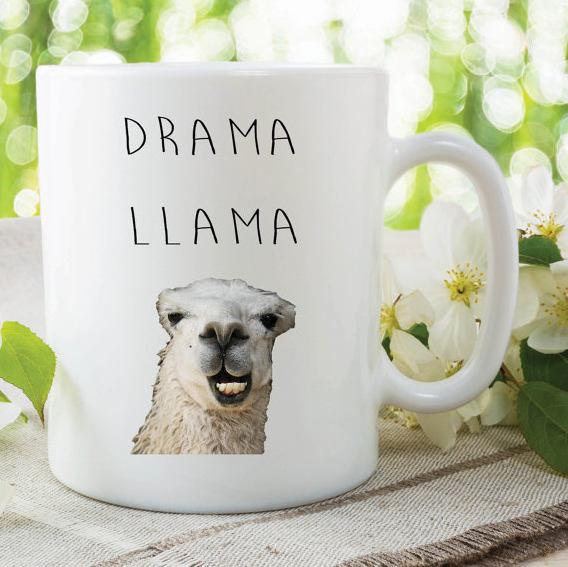 Funny Novelty Mug Drama Llama Mug Work Mug Office Mug Gift For Friend Llama