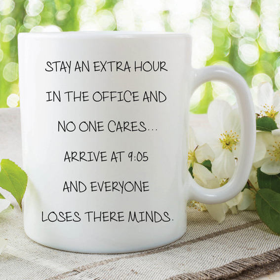 Funny Novelty Mug Work Office Gift For Colleague Quote