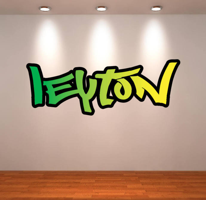 personalized custom name full color graffiti wallmysticky on