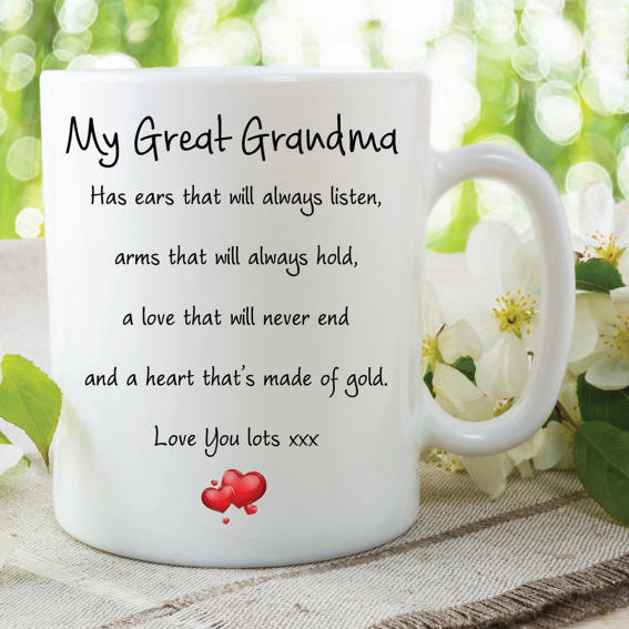 Great Grandma Mug Love You Lots Heart Of Gold Always Listens Gifts For Her