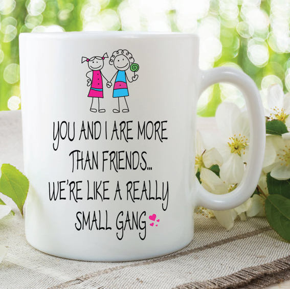 Best Friend Mug Funny Novelty Gifts More Than Friends Small Gang Birthday