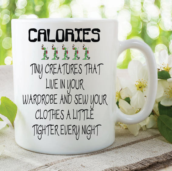 Novelty Calories Mug Ting Creatures Sew Clothes Funny Gift Friend Mug Best