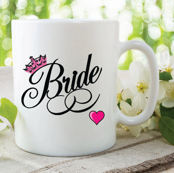 Bride Mug Wedding Gift Wedding Day Present Gift By Mysticky On Zibbet