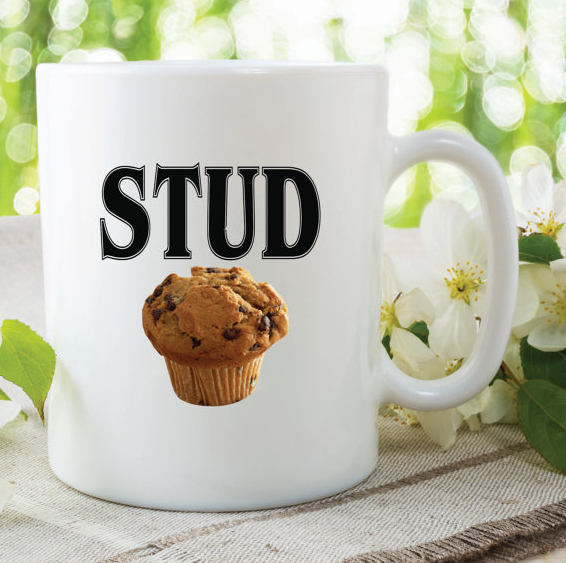 Stud Muffin Mug Funny Novelty Gift For Friend Gift Husband Boyfriend Fathers Day