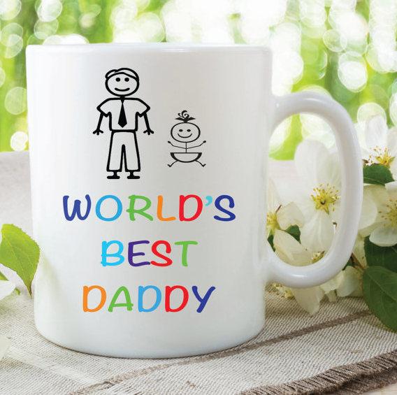 world s best daddy mug fathers day pregnancy new by mysticky on