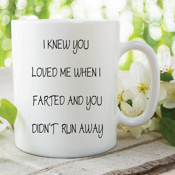 Fart Mug Funny Novelty Mug Farted Gift Boyfriend Girlfriend Birthday Valentines
