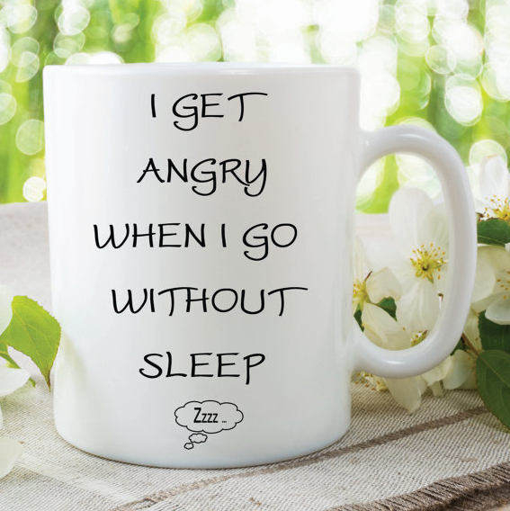 Grey's Anatomy Quotes Mug Cristina Yang I Get Angry When I Go Without Sleep