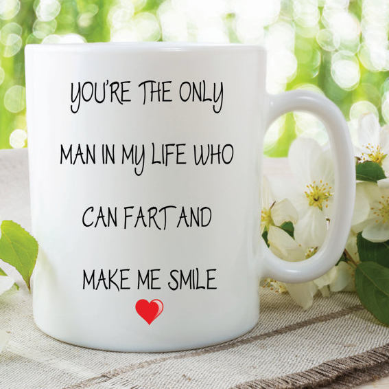 Fart Mug Funny Novelty Gifts Boyfriend Husband Valentines