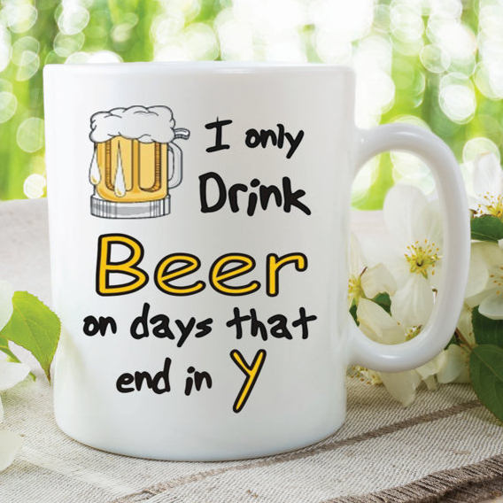Novelty Mug Beer Drinkers Gift Ideas Boyfriend Husband Girlfriend Birthday