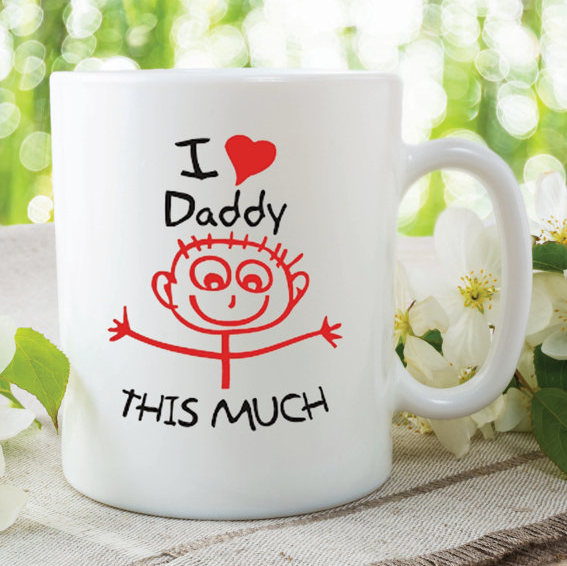 Daddy Mug I Love My This Much Gift Birthday Present Fathers Day