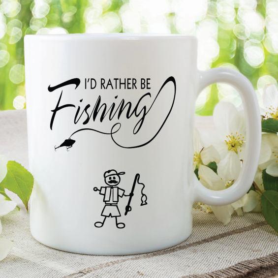 Funny Novelty Mug Id Rather Be Fishing Husband Boyfriend Gifts Birthday