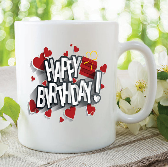 Happy Birthday Mug Gift For Friend Son Daughter By MySticky On Zibbet