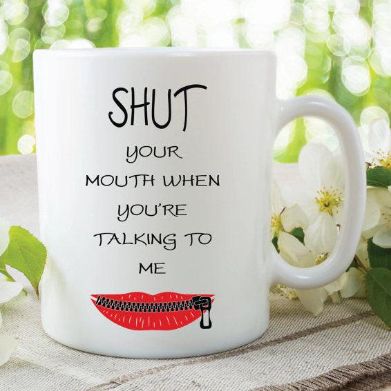 Funny Novelty Mugs Friend Gifts Funny Gift Ideas by MySticky on Zibbet