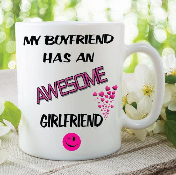 My Boyfriend Has An Awesome Girlfriend Mug Novelty Christmas Gifts Birthday Gift
